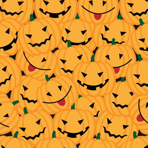 Fond d'Halloween avec des citrouilles vecteur