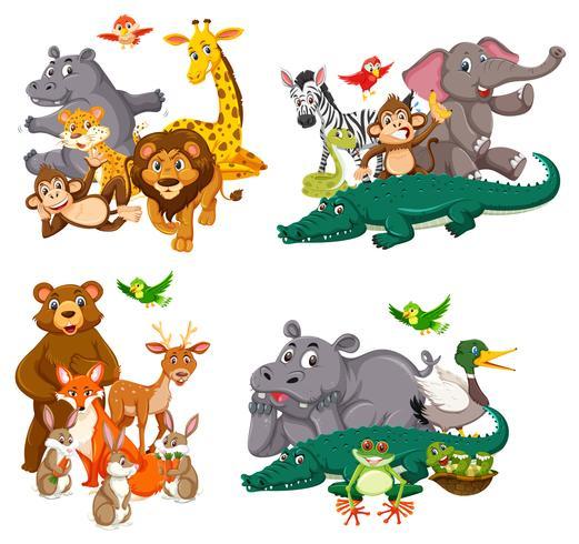 Ensemble de personnage animal vecteur