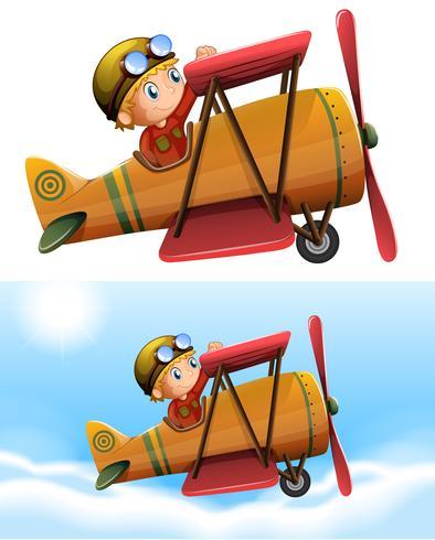 Ensemble d'avion pilote classique vecteur