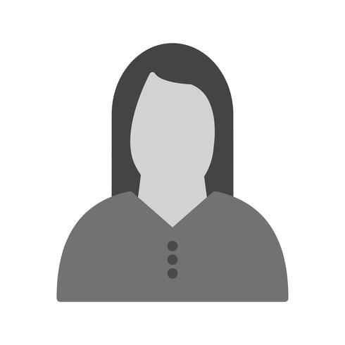 Icône de femme de vecteur