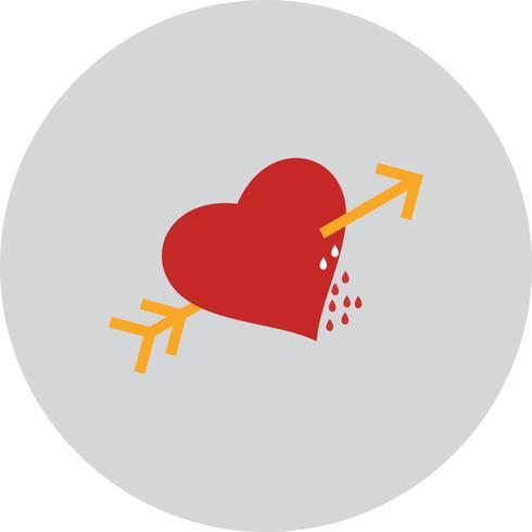 Icône de flèche coeur coeur vector