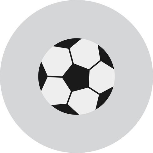 Icône de football de vecteur