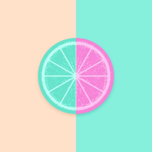 Citron tranche vecteur pop fond
