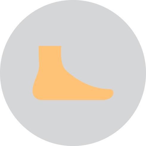 Icône de pied de vecteur