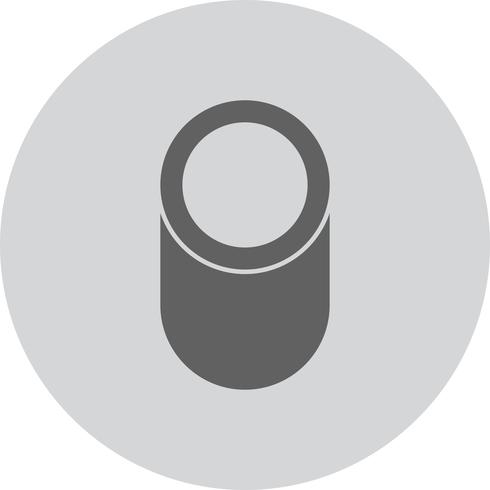 Icône de forme géométrique de cylindre de vecteur