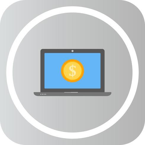 Icône de vecteur pour ordinateur portable