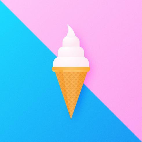 Fond de crème glacée molle vecteur