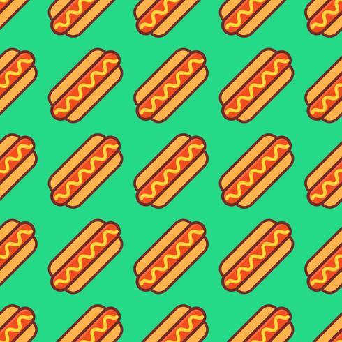Pop Hotdogs Seamless Pattern Vecteur