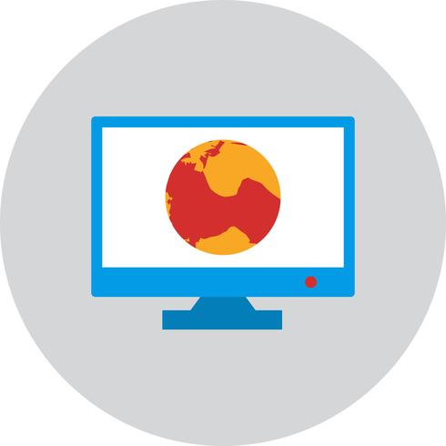 Icône de vecteur en ligne Internet Web Monitor en ligne