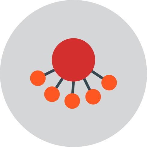 Icône de partage de vecteur