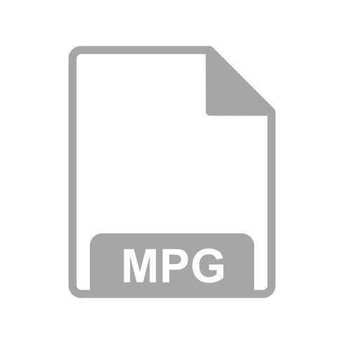 Icône de vecteur MPG