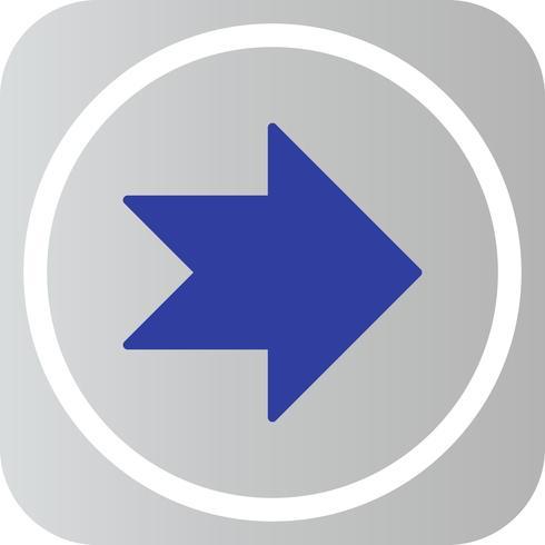 Icône de flèche vers la droite de vecteur