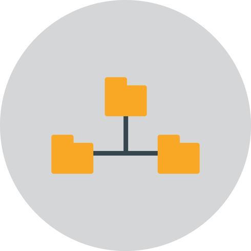 Icône de répertoires de vecteur