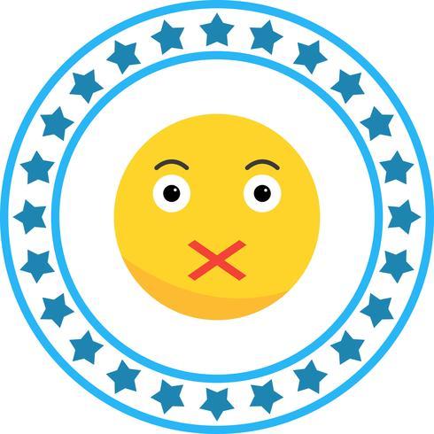 Icône de vecteur Emoji silencieux