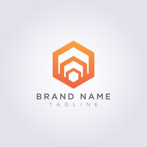 Logo Design Abstract Vector Symbole Hexagone