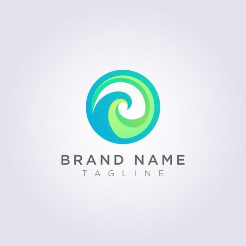 Création d'icône de logo vague cercle pour marque, entreprise, société et entreprise vecteur