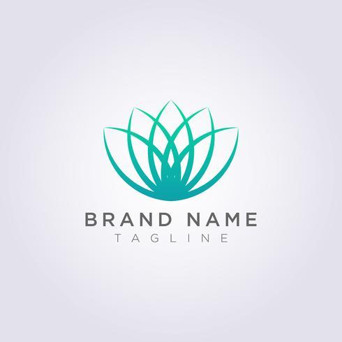 Icône du logo Vector Design luxe fleur