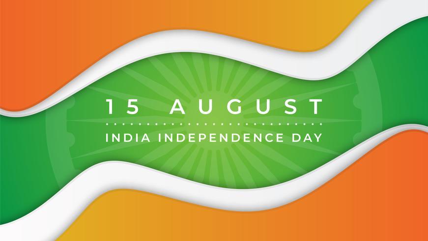 Résumé historique de la fête de l'indépendance de l'Inde vecteur