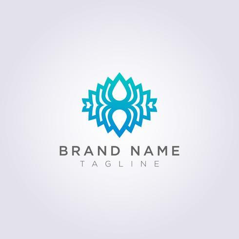 Créations de logos de fleurs de lotus créatives pour votre entreprise ou votre marque vecteur