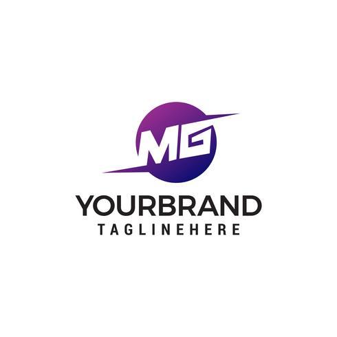modèle de lettre MG logo design concept vecteur