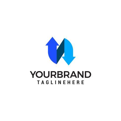 N lettre Logo template vecteur