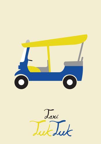 Vecteur de tuk tuk de taxi