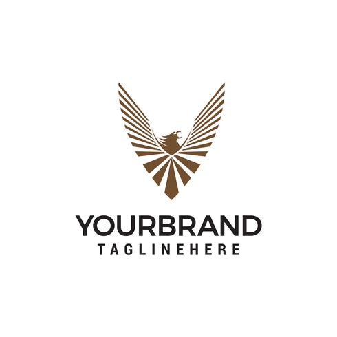eagle logo design concept template vecteur