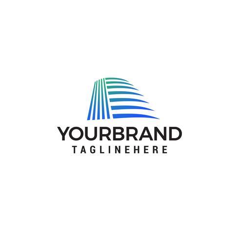 Idée de construction d'architecte - logo vectoriel