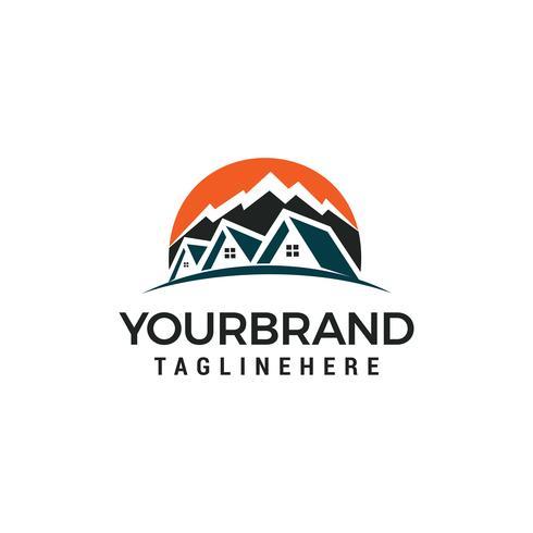 Maison de montagne Logo Template vector illustration design