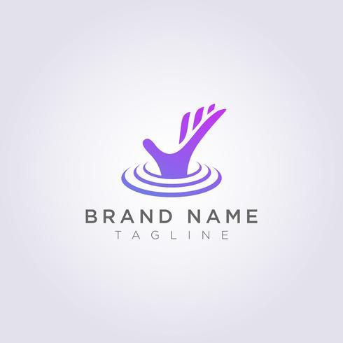 Concevez des logos qui sortent de l'eau pour votre entreprise ou votre marque vecteur