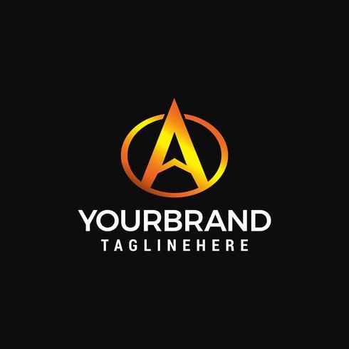 Lettre A cercle logo design concept vecteur