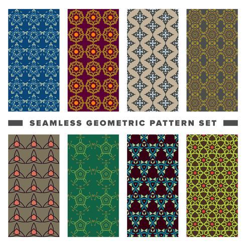 Ensemble de modèle de formes géométriques décoratives sans soudure vecteur