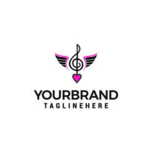 note musique logo design concept template vecteur