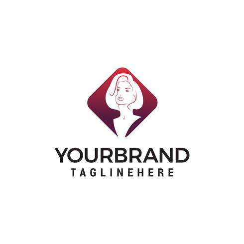 beauté femmes salon de beauté, salon de coiffure, logo vecteur de logo cosmétique design concept