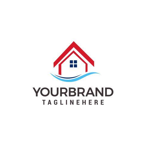 modèle de conception de logo maison vecteur