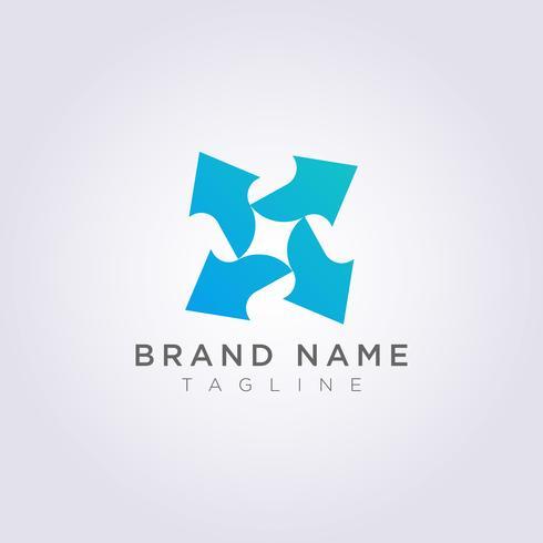 Logo Design Vector Icon Symbole Flèche