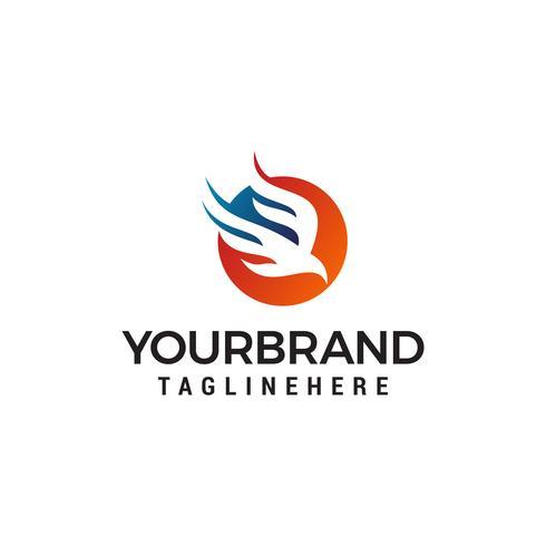 aigle volant logo design concept template vecteur