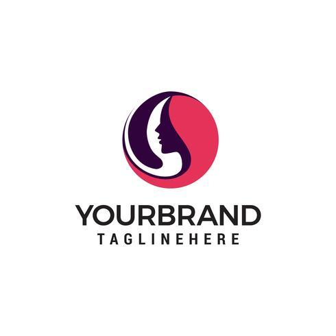 beau visage logo design concept template vecteur