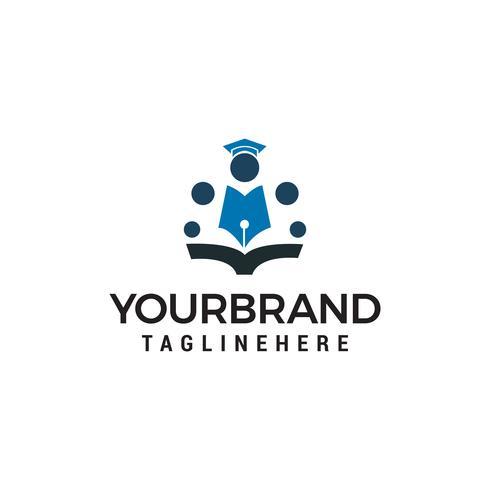 Education School people logo design concept template vecteur