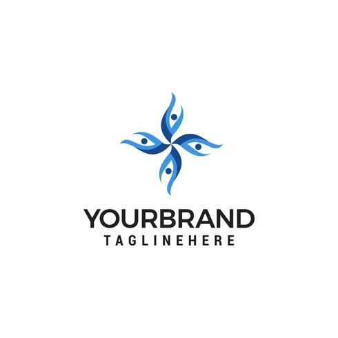 concept de logo de personnes de communication vecteur