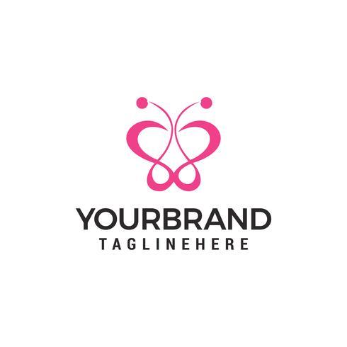 Logo beauté papillon modèle Vector icon design
