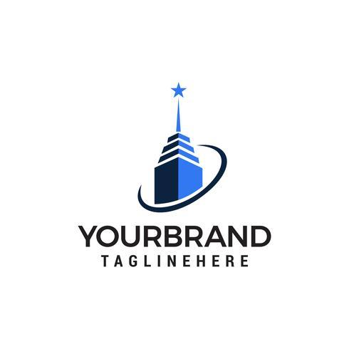 bâtiment logo design concept template vecteur