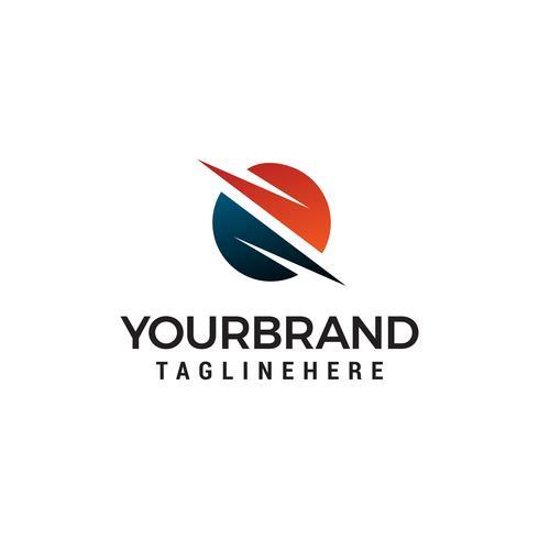 logo de technologie globe, cercle business logo design concept template vecteur