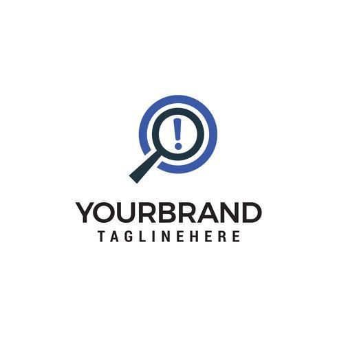 magnifer recherche logo design concept template vecteur
