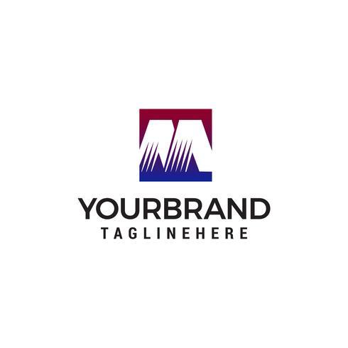 Modèle de lettre M logo design concept vecteur