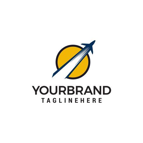avion logo design concept template vecteur