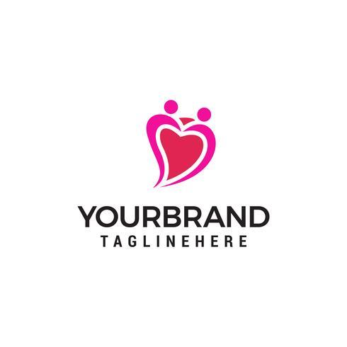 Amour couple coeur logo. Service de rencontres Logo designs Template vecteur