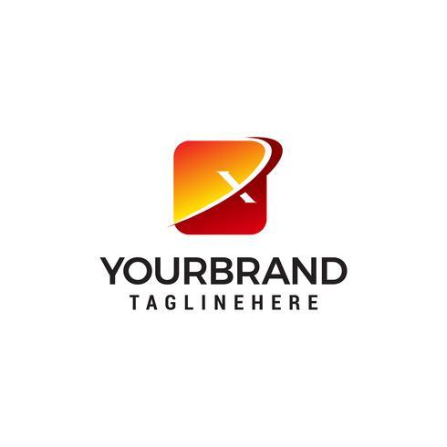 lettre x logo design concept template vecteur