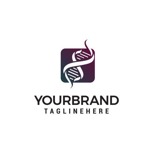 gen dna logo design concept template vecteur