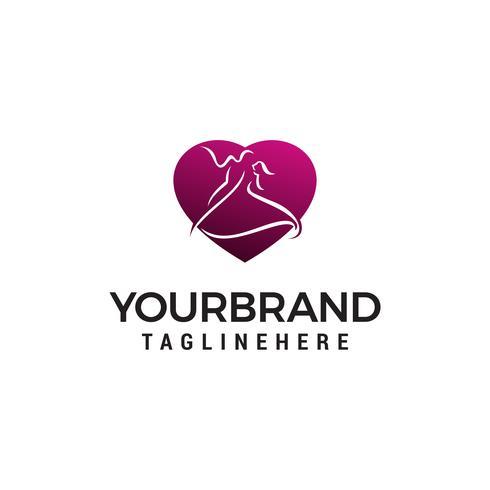 Danse logo design concept template vecteur